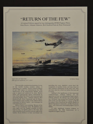 Return of the Few by Robert Taylor - rare remarque