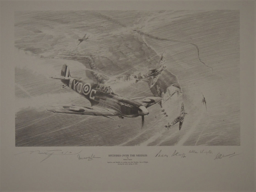 Spitfire Over The Neddles by Robert Taylor