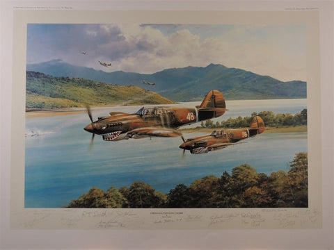 Chennaults Flying Tigers by Robert Taylor- Multi signed