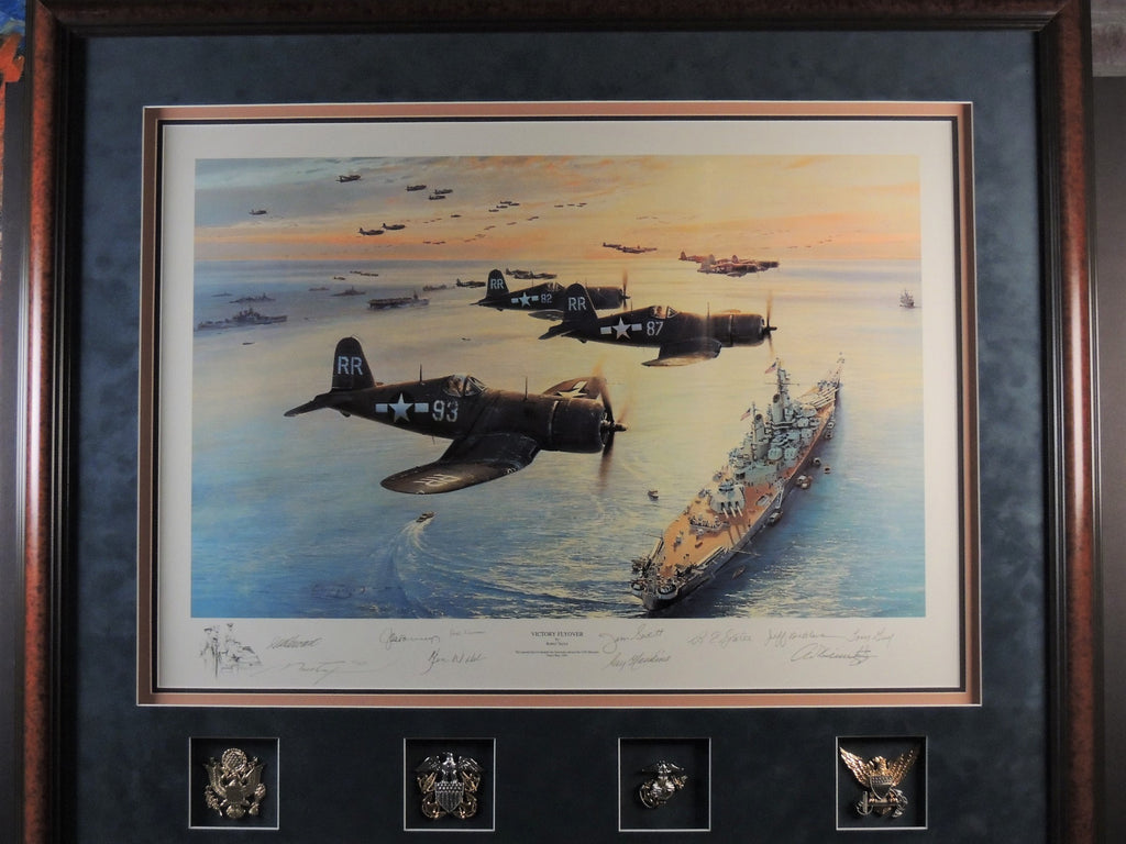 Victory Flyover by Robert Taylor - Ten signature edition spectacularly framed