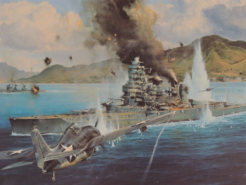 Attack on the Hiei by Robert Taylor -The Millennium Proof an edition of 50