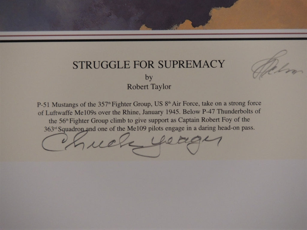 CHUCK YEAGER signed - Struggle For Supremacy by Robert Taylor