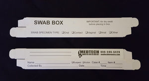 "Swab Box, Large, Printed, 6"", 100/pk"