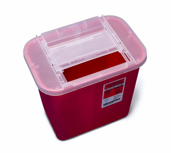 Sharps Container, 2 gal, Red (Non-Tortuous Path) each