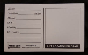 White Latent Backing Cards - Printed