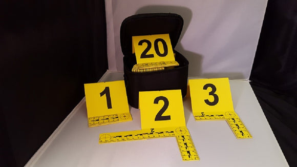 Photo Evidence Markers w/Foldable L Shaped Scales
