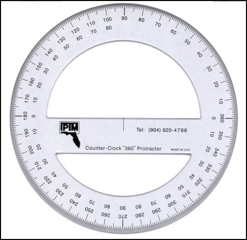 IPTM 360-Degree Counter Clockwise Protractor