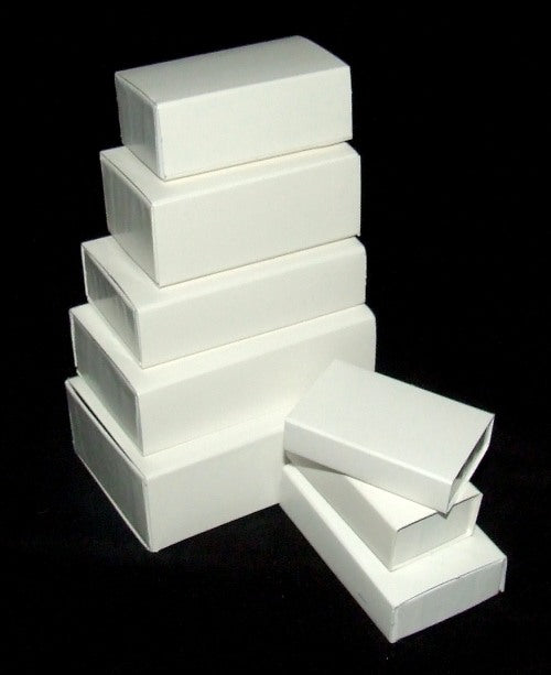Small Slide Evidence Boxes, 3 1/8x2 1/16x1 1/4, case