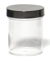 Plastic Evidence Jar, 4 oz volume, Wide Mouth, Each