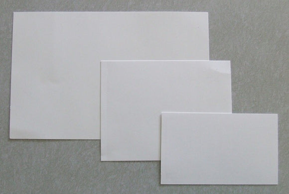 White Latent Backing Cards - Plain