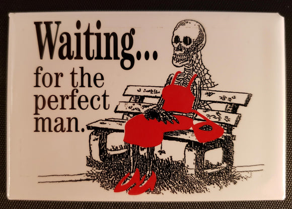 Skeleton on a bench Magnet