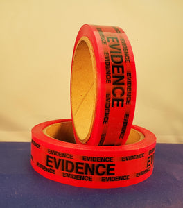 Evidence Sealing Tape, Red, 1 inch, each