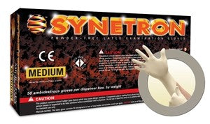 Synetron Extended Cuff Latex Gloves