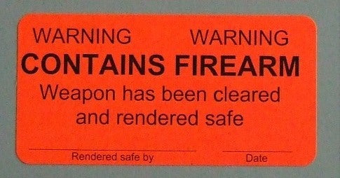 Weapons Label, Warning, Contains Firearm, 2