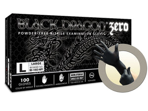 Microflex Black Dragon Zero Nitrile Gloves