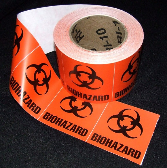 Biohazard Labels, 3
