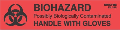 BIOHAZARD-HANDLE WITH GLOVES Labels, 1