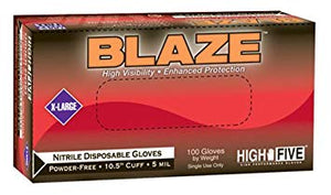 Blaze Extended Cuff Nitrile Gloves