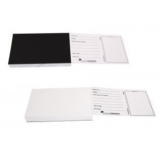 Latent Backing Cards - Black, Printed
