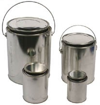 Solid Sample Metal Evidence Container - Unlined