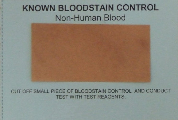 Known Blood Control Card