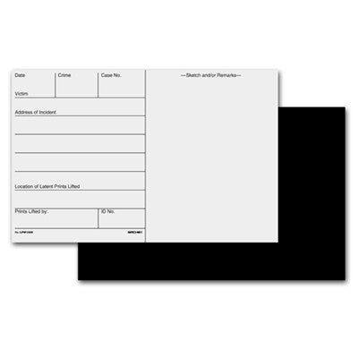 Black Latent Backing Cards