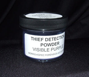 Visible Thief Detection Powder, Silver, Stains Purple