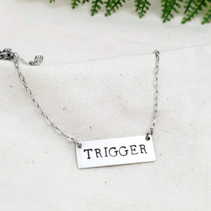 Name Bar Necklace - Silver Fern Handmade