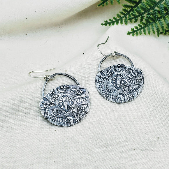 Relic Earrings - Silver Fern Handmade