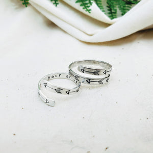 Follow Your Arrow Ring - Silver Fern Handmade