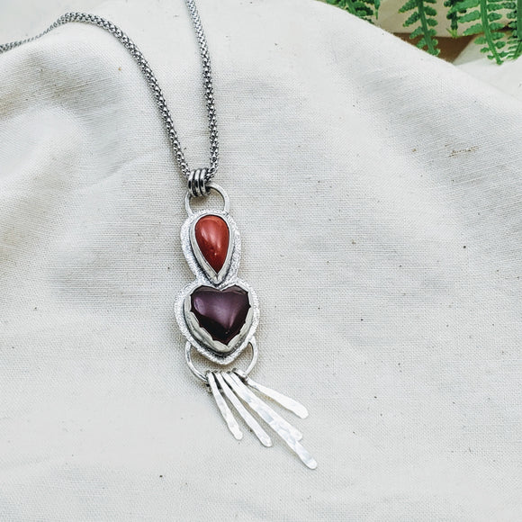 Queen of Hearts Necklace - Silver Fern Handmade