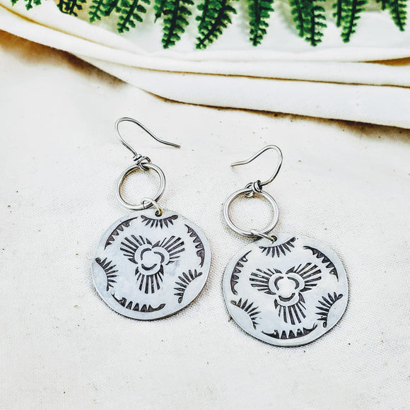 Balance earrings - Silver Fern Handmade