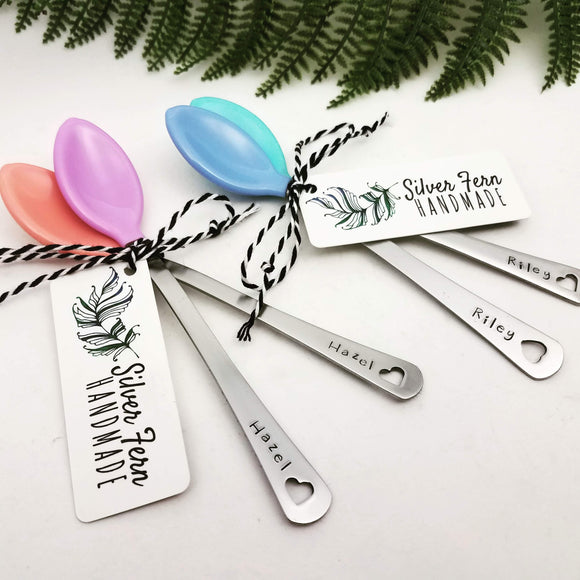 Stamped Baby Spoons - Silver Fern Handmade
