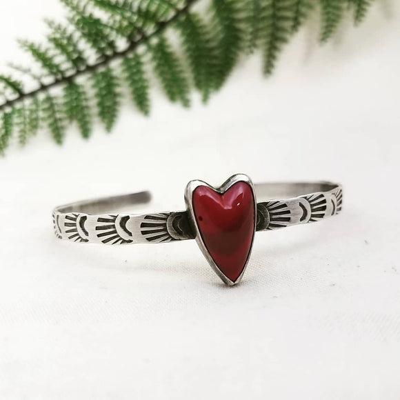 Queen of Hearts Bracelet - Silver Fern Handmade
