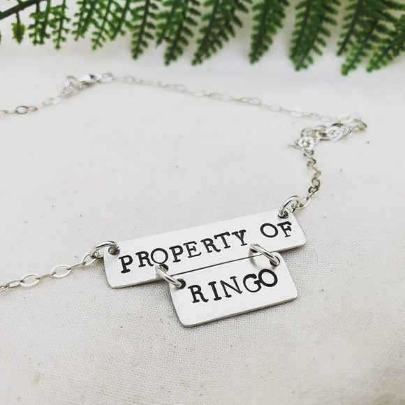 Property Of Necklace - Silver Fern Handmade