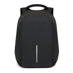Anti theft backpack black