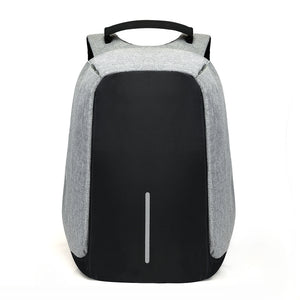 Anti theft backpack grey
