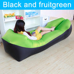 Inflatable lounger green