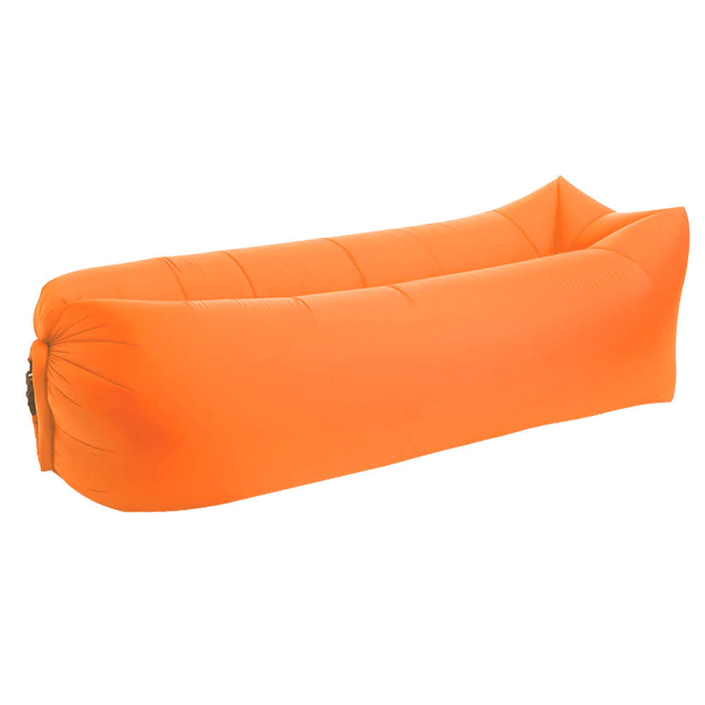 Inflatable lounger orange