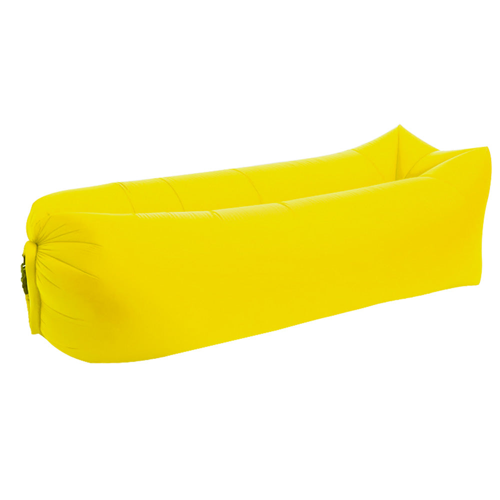 Inflatable lounger yellow
