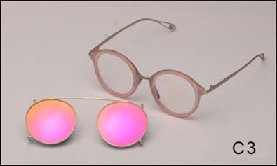 Fashion Round Mirror Sunglasses
