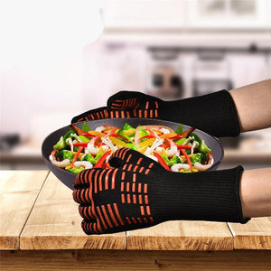 Extreme Barbecue Thick Silicon Oven Gloves
