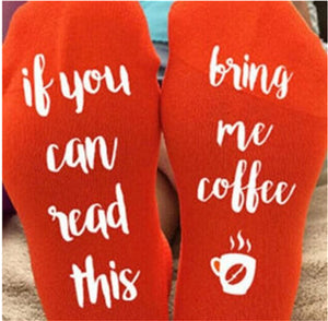 customized socks if you can read this red