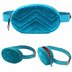 blue leather Luxury Chest bag
