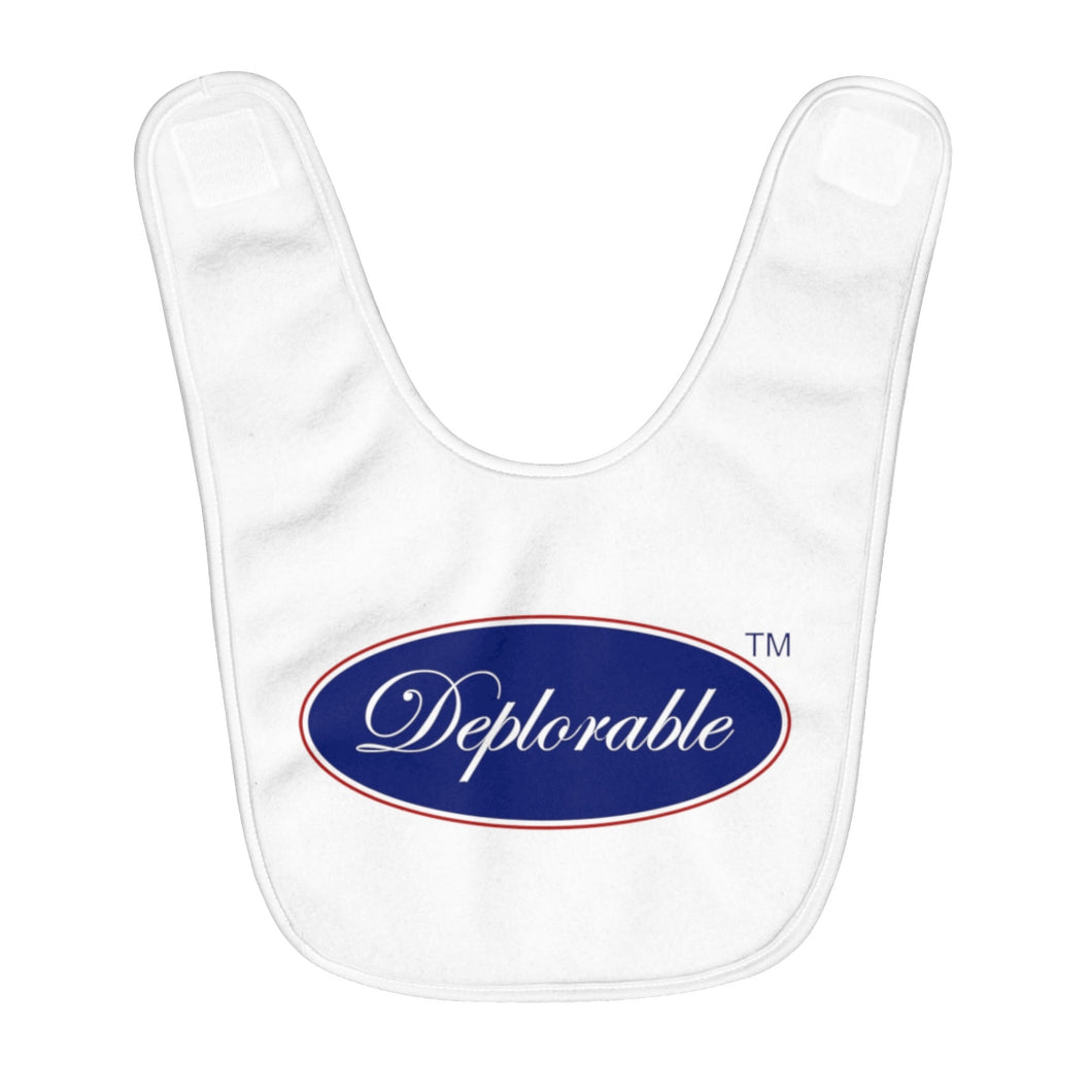 Fleece DEPLORABLE™ Baby Bib