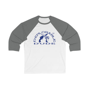 DEPLORABLE DUDE™ 3/4 Sleeve Baseball Tee