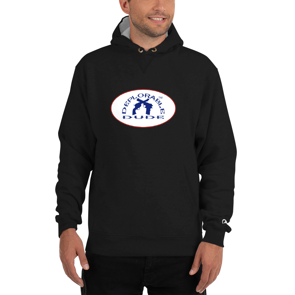 DEPLORABLE DUDE™ Badge Champion Hoodie
