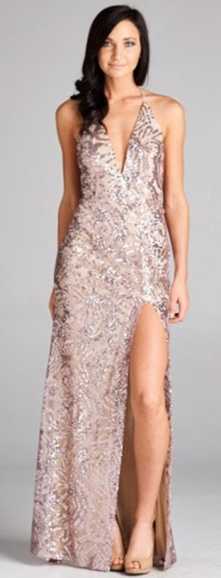 Long Sequin Evening Gown – FashionStyleGlamour