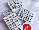 18 Pairs Stud Earrings