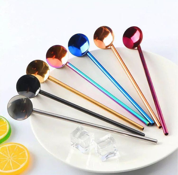 Stainless Steel 7pcs Straw Set
